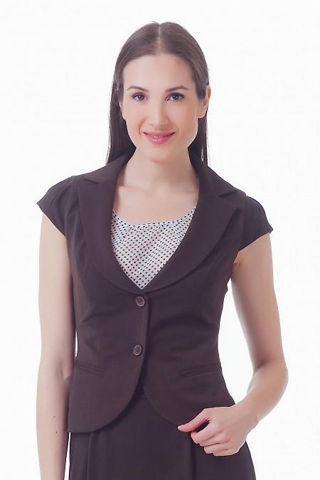 Жилетка женская коричневая  Деловая женская одежда