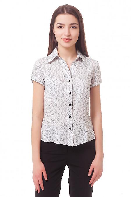 Блузка белая в черные огурцы Деловая женская одежда