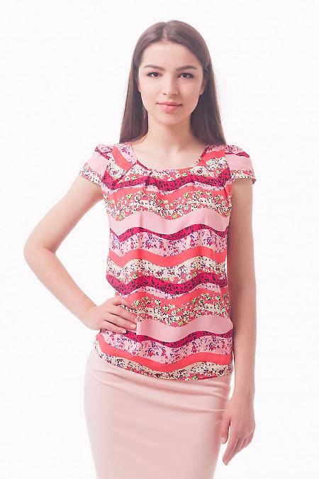 Купить топ в розовый узор Деловая женская одежда