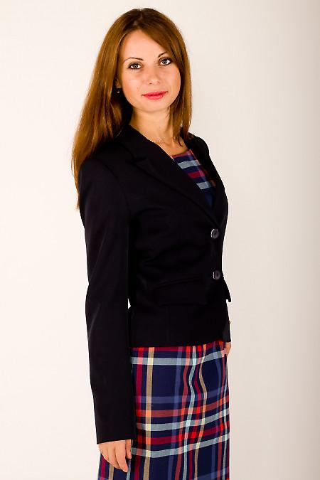 Фото Жакет классический темно-синий Деловая женская одежда