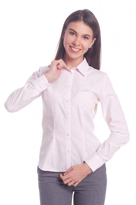 Женская розовая рубашка Деловая женская одежда