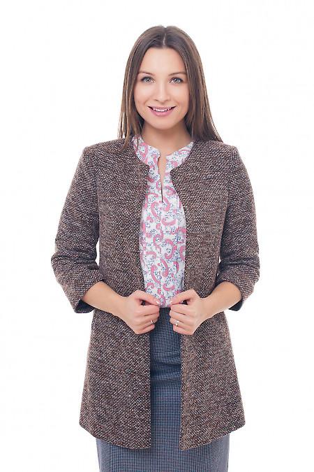 Кардиган теплый коричневый Деловая женская одежда фото
