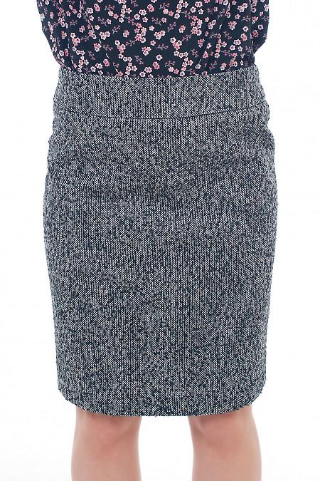 Юбка теплая из серого твида Деловая женская одежда фото