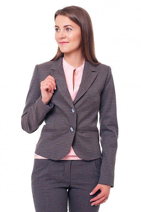 Жакет в рыжую лапку Деловая женская одежда фото