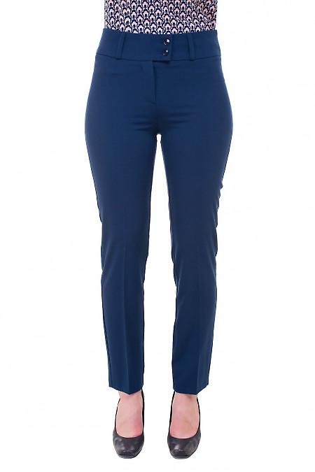 Купить брюки синие с стрелкой Деловая женская одежда фото