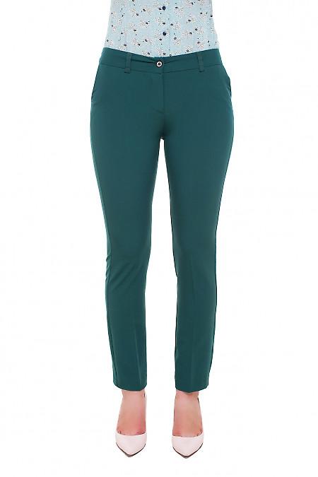 Брюки зеленые Деловая женская одежда фото