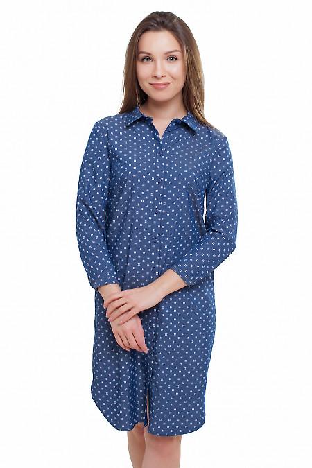 Платье-рубашка под джинс Деловая женская одежда фото