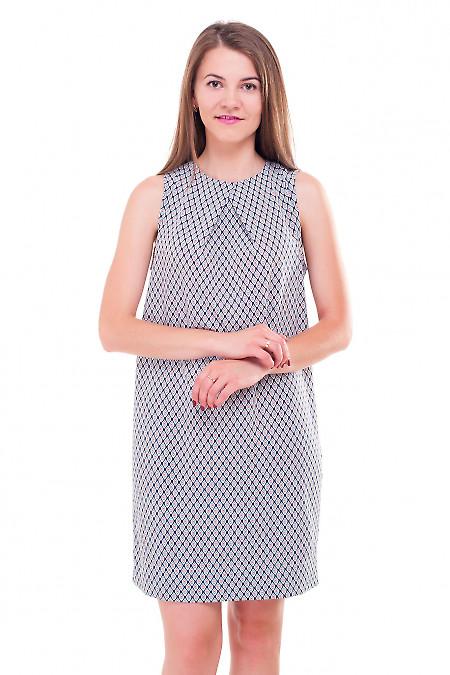 Платье из вискозы с одним защипом на груди Деловая женская одежда фото