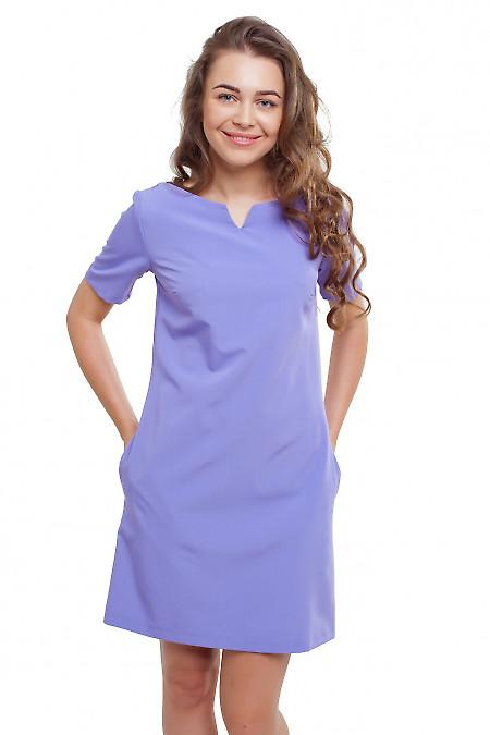 Платье сиреневое прямое Деловая женская одежда фото
