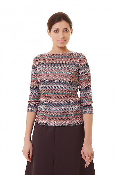 Туника разноцветная в полоски Деловая женская одежда фото