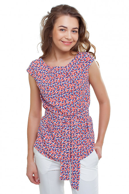 Туника в оранжевые цветочки Деловая женская одежда фото
