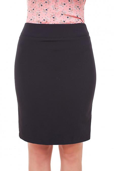 Юбка коротенькая черная Деловая женская одежда фото
