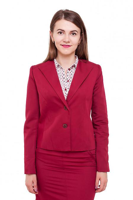 Жакет приталенный бордовый Деловая женская одежда фото