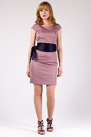 Фото Платье розовое с коротким рукавом Деловая женская одежда