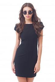 Черное платье-футляр с рукавчиком Деловая женская одежда