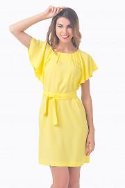 Платье желтое с крылышками Деловая женская одежда