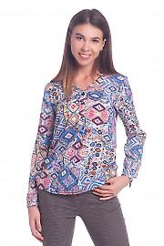 Блузка разноцветная с планкой Деловая женская одежда