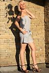 Комбинезон летний серый Деловая женская одежда