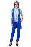 Купить жилет ярко-синий удлиненный Деловая женская одежда