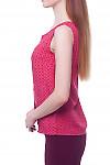 Купить топ красный с бантовой складкой Деловая женская одежда фото