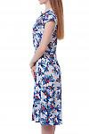 Купить летнее платье белое в голубые цветы  Деловая женская одежда