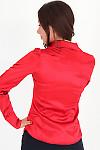 Фото Блузка красная из атласа вид сзади Деловая женская одежда