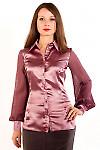 Фото Блузка с плиссированым рукавом. Вид спереди Деловая женская одежда