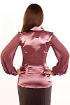 Фото Блузка с плиссированым рукавом. Вид сзади Деловая женская одежда