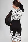 Фото Платье трикотажное в цветы. Вид сзади Деловая женская одежда