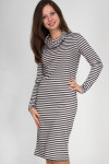 Фото Платье трикотажное в полоску Деловая женская одежда