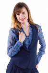 Фото Жилетка офисная Деловая женская одежда.