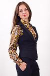 Фото Жилетка синяя Деловая женская одежда