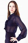 Фото Блузка с рюшью Деловая женская одежда