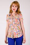 Фото Блузка с защипами цветная Деловая женская одежда