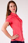 Фото Блузка с защипами коралловая Деловая женская одежда