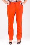 Фото Брюки из штапеля оранжевые Деловая женская одежда