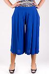 Фото Шорты-юбка синие Деловая женская одежда