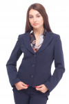 Жакет темно-синий с круглым воротником Деловая женская одежда