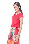 Купить блузку коралловую с рукавчиком Деловая женская одежда