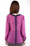 Фото Блузка с пуговицами по спинке Деловая женская одежда