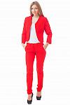 Купить красный костюм с брюками Деловая женская одежда