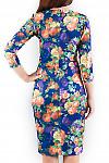 Фото Платье в яркие цветы Деловая женская одежда