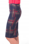 Купить юбку-карандаш в коралловую полоску Деловая женская одежда