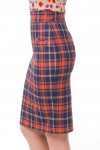 Купить юбку синюю в рыжую клетку Деловая женская одежда