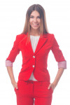 Фото Жакет красный с манжетой Деловая женская одежда