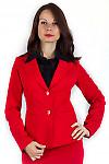Фото Жакет удлиненный красный Деловая женская одежда