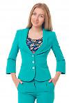 Жакет зеленый с отрезной талией Деловая женская одежда