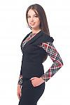 Купить жилетку черную с защипами впереди Деловая женская одежда