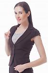 Купить жилетку женскую коричневую  Деловая женская одежда