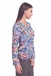 Купить разноцветную блузку с планкой. Деловая женская одежда